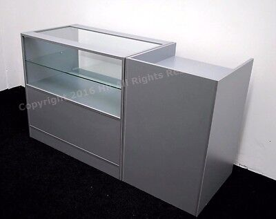 Grey Glass Shop Counters  Metallica,FREE DELIVERY, TOP QUALITY, 2 UNITS  • 380£