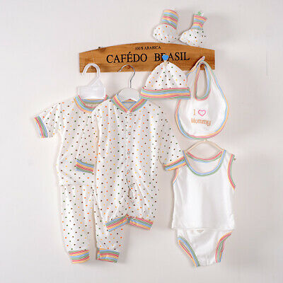 Newborn Baby Clothes Set Unisex Infants Romper Top Pajama Shirt Outfit 0-3M • 8.99£