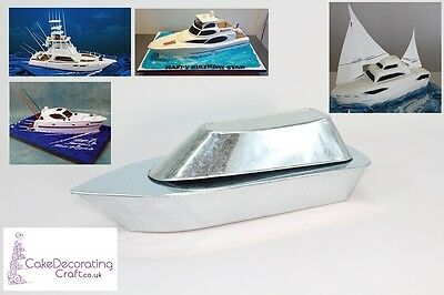 3D Novelty Cake Baking Tins And Pans | Yacht Boat Cake Shape  • 12.34£