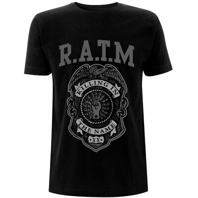 Official Rage Against The Machine Grey Police Badge Killing Name Black Unisex... • 12.95£