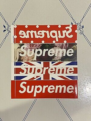 $ CDN125.32 • Buy Supreme Comme Des Garcons Union Jack PCL Sticker Lot Authentic