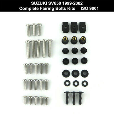 $24 • Buy Complete Fairing Bolts Kit Stainless Steel Screw Fit For SUZUKI SV650 1999-2002
