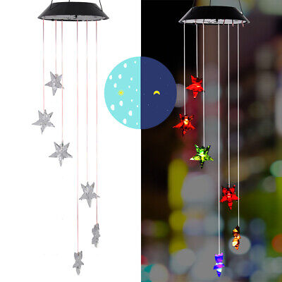 £5.99 • Buy Wind Chimes Solar Powered LED Light Changing Hanging Garden Yard Outdoor Decor