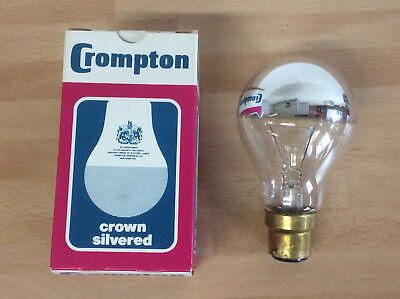 Crompton 60w BC GLS Crown Silver Lightbulb, Sign Lamp Bulb, Backlight Warm White • 3.99£