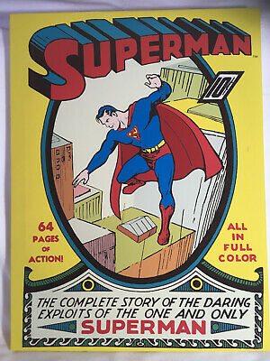 Superman Comic Book Canvas Great Condition Very Vivid - Fast UK Dispatch • 24.99£