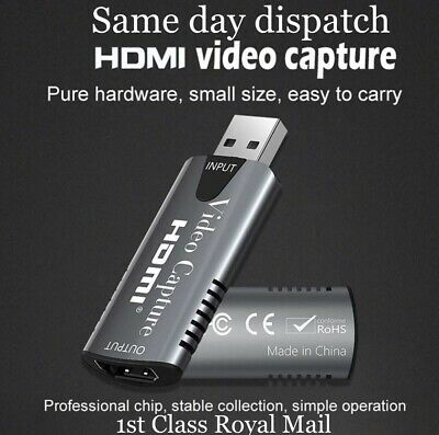 HDMI To USB 2.0 Video Capture Card 1080P HD Recorder Game / Video Live Streaming • 11.95£