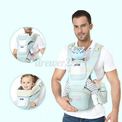 Adjustable Ergonomic Infant Baby Carrier With Hip Seat Stool Wrap Sling  • 23.94£