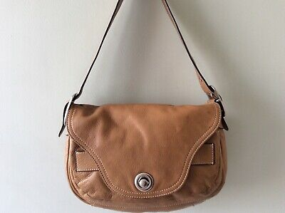 FRENCH CONNECTION Real Leather Ladies Small Tan Underarm Shoulder Bag • 16£