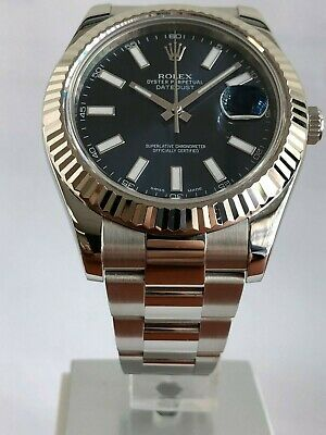 $ CDN12932.64 • Buy 2010 Rolex Datejust II 18k White Gold & Steel Blue Dial 41mm Watch 116334 Men's