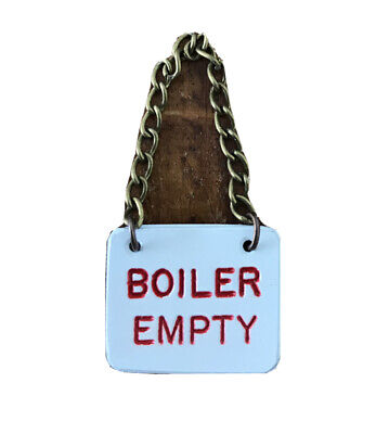 "Small 3.5"" & 5 Inch Gauge Boiler Empty Sign Live Steam • 12£"