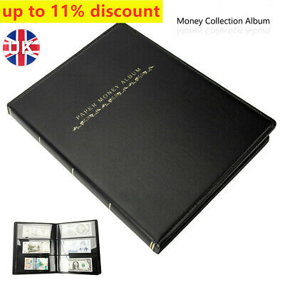 £14.39 • Buy 60Pockets Banknote Album Soft Leather Notes Paper Money Collection Stamps Book