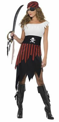 Womens Pirate Wench Costume Caribbean Treasure Hook Ladies Fancy Dress Outfit • 21.99£
