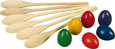 Kids Egg And Spoon Race Game Set Childrens Party School Fun Toy - NEW • 11.49£