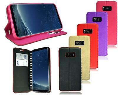 $ CDN9.38 • Buy For Samsung Galaxy S8 Plus New Genuine Leather Wallet Phone Case + Screen Guard