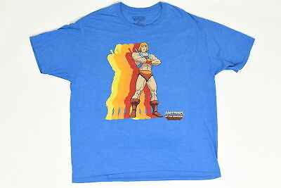 $14.99 • Buy Masters Of The Universe T Shirt Tee Cool 90's Sz 2XL Short Sleeve Blue Cotton