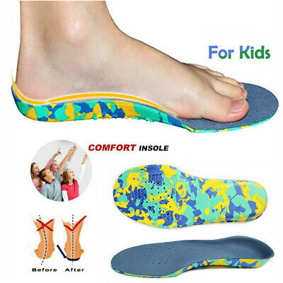 Children Flat Feet Orthotic Arch Heel Support Velvet Insoles Shoes Inserts Pads • 2.45£