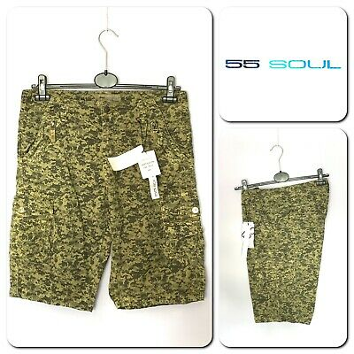55 SOUL MSRT-SATURN NEW Men's CARGO Shorts Size M • 8.50£