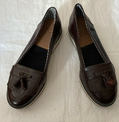 Fred Perry Ox Blood Tassel Shoes Slip Ons  Size Uk 6 Danagecto Tassel • 14.99£