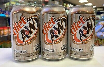 A&W Diet Root Beer 12oz Cans X 3 (USA Import) • 6.99£