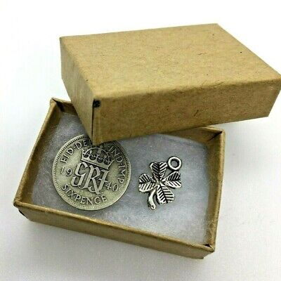 £8.99 • Buy 80th Birthday Coin Gift - 1941 Lucky Sixpence & Lucky Charm In Box Year Of Birth