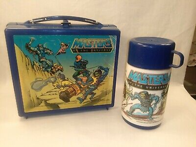 $44.95 • Buy Vintage Masters Of The Universe Lunchbox W' Thermos Complete M.O.T.U 80's