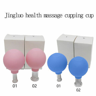 2 X Vacuum Cupping Massage Body Face Facial Suction Anti Cellulite Cups Massage • 7.69£