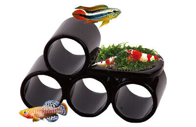 Ista Ceramic Cave Hiding Shelter Home Hide Pleco Shrimp Catfish Breeding Moss • 5.99£