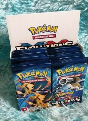 NOT BOX PACK ONLY Pokemon Cards XY Evolutions Booster PACK! (1) - New & Sealed🔥 • 15£