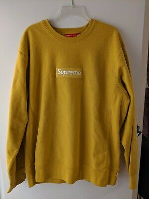 $ CDN800.03 • Buy Supreme FW18 Crewneck Box Logo Mustard XLarge New