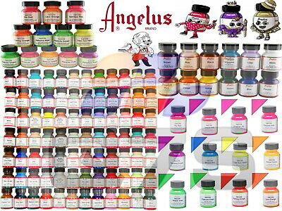 Angelus Acrylic Leather Paint For Sneakers Shoes Bags Trainers Boots 1oz/4oz UK • 7.30£