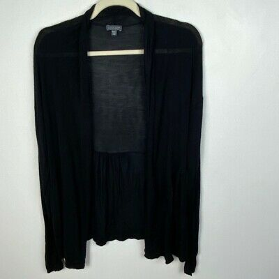 $ CDN53 • Buy Anthropologie Lilla P Black Drape Open Cardigan Size Small Long Sleeve Viscose
