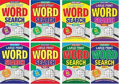AU34 • Buy 1-8 NEW A4 Size Word Search Puzzle Books Large Print 60 Puzzles Per Book