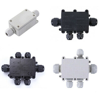 £4.69 • Buy Outdoor Waterproof Junction Box Ip68 Cable Gland Connector Wire 2/3/4/5/6 Ways