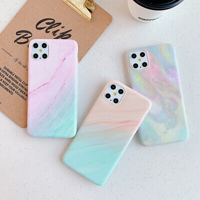 AU5.44 • Buy Colorful Case For IPhone 12 11 Pro Max XS MAX XR XS X 8 7 Plus Marble Soft Cover
