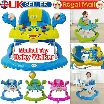 Baby Walker First Steps Activity Bouncer Musical Melody Toy Push Along Ride On • 27.99£