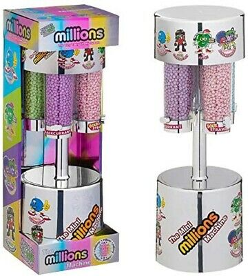 Millions Large Sweet Dispenser Machine & 8 X 16g Bags Of Million Sweets - Silver • 20.89£