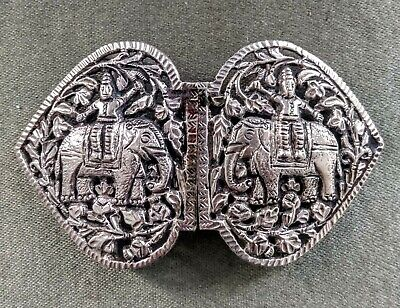£43.46 • Buy Antique Anglo Indian Silver Buckle, Elephants