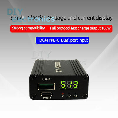 $ CDN14.97 • Buy XY-PDS100 QC3.0/4.0 Type-C 100W Step Down Quick Charger Module , Mobile Phone US
