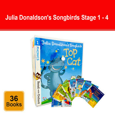 Julia Donaldson's Songbirds Read With Oxford Phonics 36 Books Set (Stage 1 - 4) • 33.11£