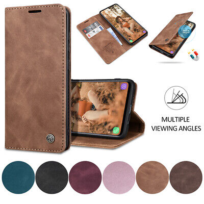 For Huawei P40 Lite / P40 Pro Case Magnetic Leather Flip Stand Wallet Card Cover • 6.99£