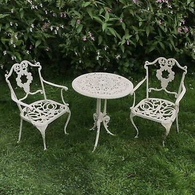 Vintage Cast Aluminium  Garden Table And Chairs • 350£