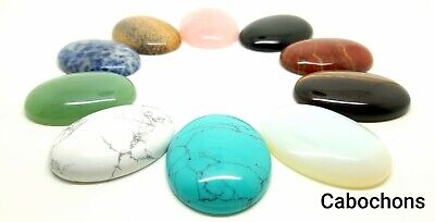 Cabochon - Crystal Cabochons 40mm X 30mm Jewellery Making, Crafting - Flat Back • 3.45£