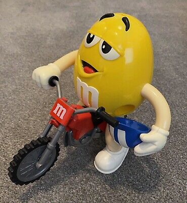 Yellow M&Ms Sweets Collectable Motor Bike/ Dirt Bike Sweet Dispenser • 14£