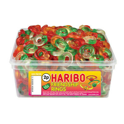 Haribo Friendship Rings Sweets Tub Pick 'N Mix Kids Candy Party Favours • 9.99£