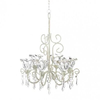 Home Lighting Decor Crystal Blooms 6 Candle Chandelier • 37.68£