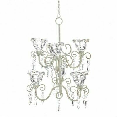 Home Lighting Decor Crystal Blooms 6 Candle Double Chandelier • 37.68£