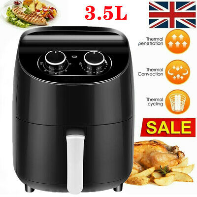 View Details Air Fryer 3.5L Oil Free Low Fat Healthy Cooker Oven Food Frying Chip Fry Kitchen • 39.98£
