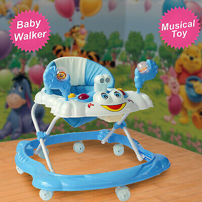 Baby Walker First Steps Push Along Bouncer Activity Music Ride Car On Toy Music • 28.99£