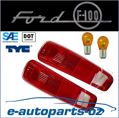 AU72 • Buy Ford F100 F150 F250 F350 F Series TYC SAE/DOT Tail Lamp Light Pair 1974-1980