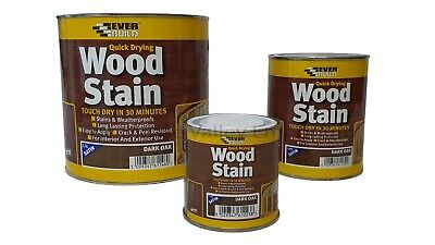 £11.35 • Buy Everbuild Wood Stain Indoor And Outdoor Quick Drying 5 YR All Colours All Sizes